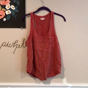 Urban outfitters Burnt orange cutout tank